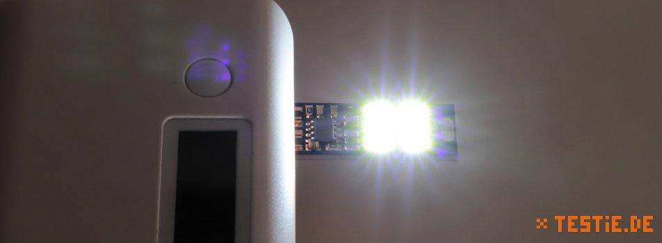 Kebidu 6-fach USB Lampe an Powerbank leuchten