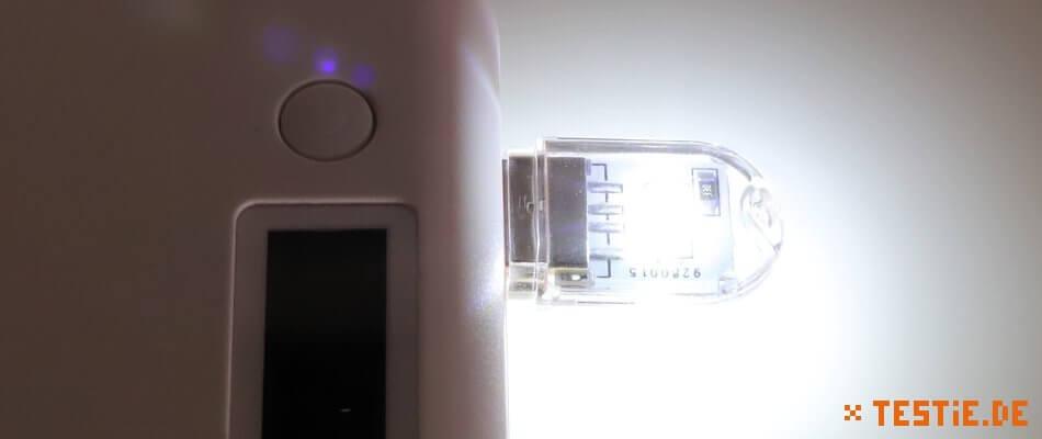 USB Lampe 2-fach leuchten