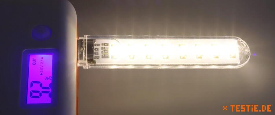 USB Lampe 8-fach leuchten