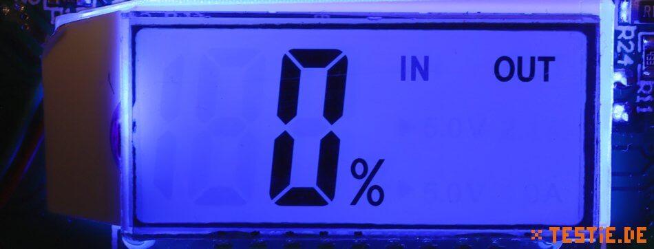 Powerbank Modul: Beleuchtete LCD Anzeige