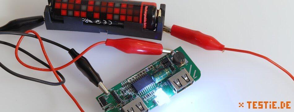 Powerbank Modul: Taschenlampe