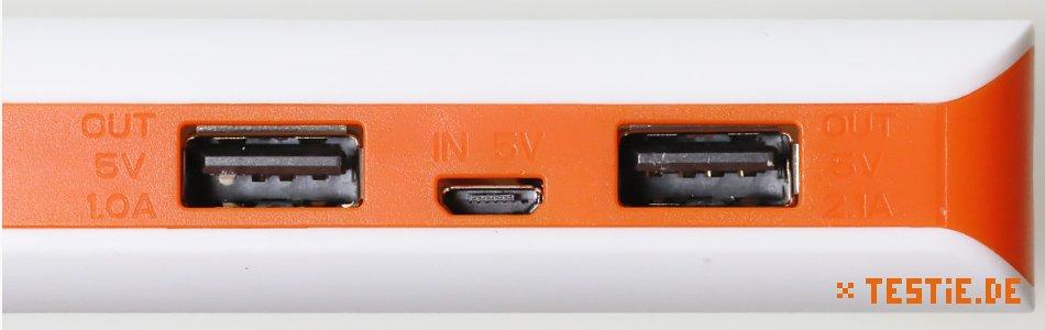 powerbank test led USB Anschlüsse