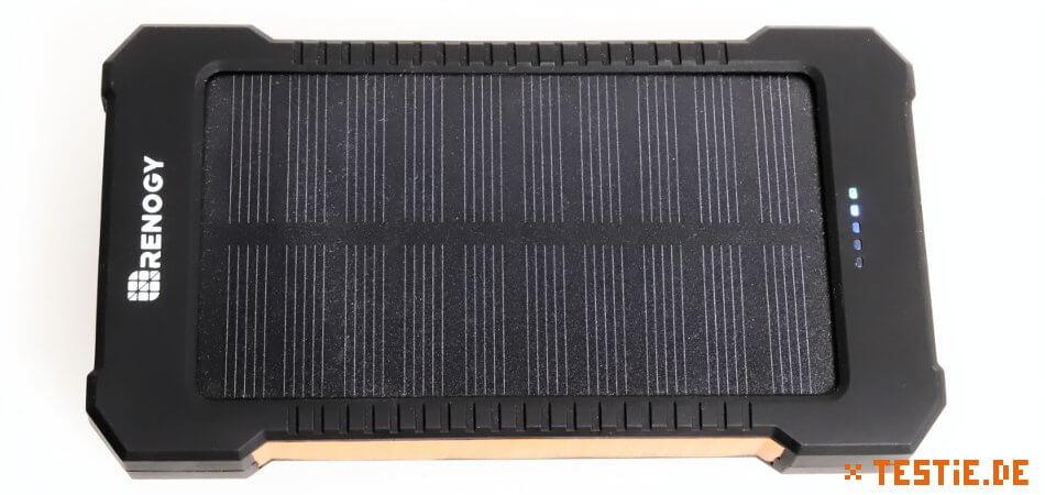 powerbank test solar vorderseite
