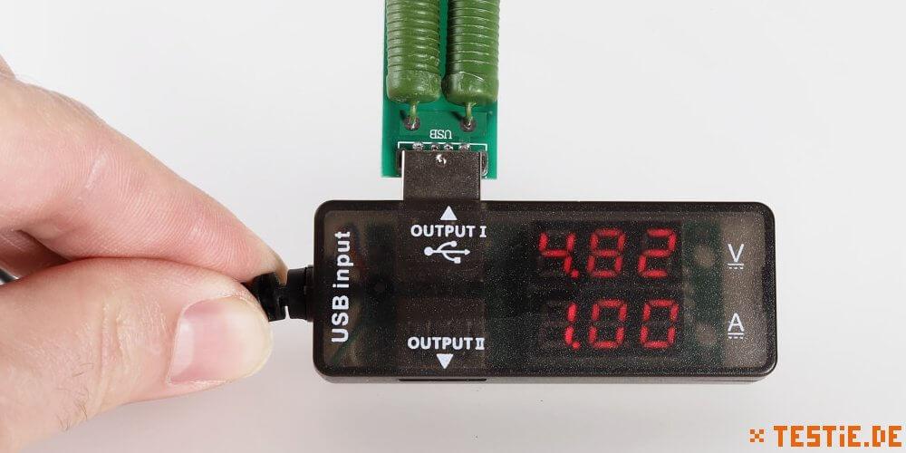 USB Multimeter mit Lastwiderstand im Test