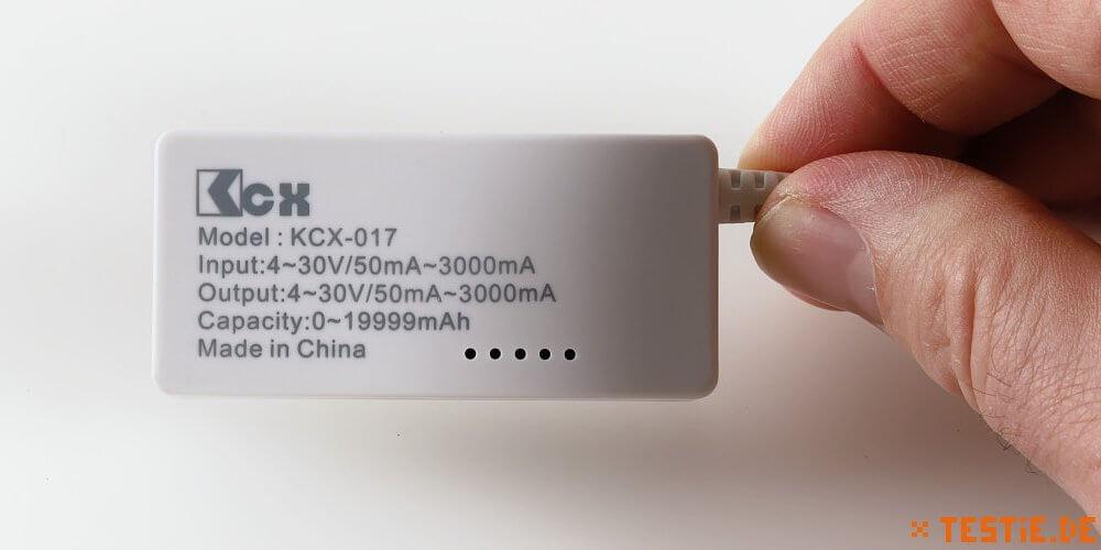 Vorbildlich: USB Multimeter mit technischen Angaben