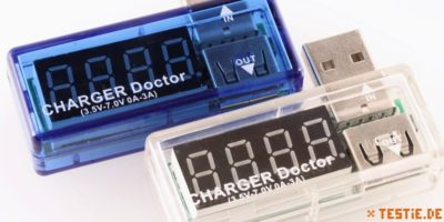 usb messgeraete charger-doctor in zwei Farben